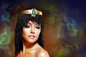 egyptian woman bronze